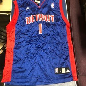 Rare Detroit Pistons Allen Iverson Jersey